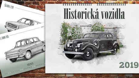 Nástěnný A3 kalendář 2019: Historická vozidla