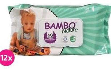 12x BAMBO Nature vlhčené ubrousky (80 ks)