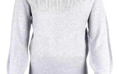 M&V Dámský svetr SUNDAY s perly a krystalky