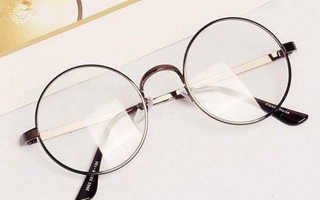 Falešné oblíbené brýle s kruhovými obroučky