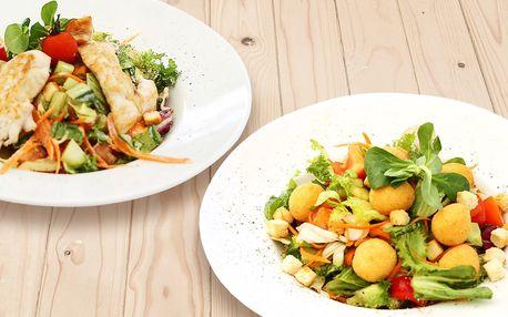 Lehká večeře: salát dle výběru ze 3 druhů