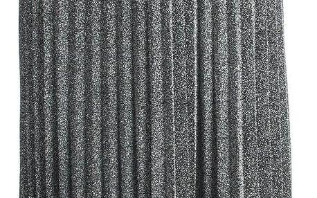 M&V Dámská plisovaná midi sukně metalická 75 cm