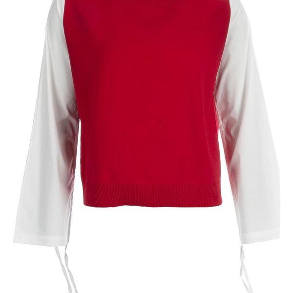 Pulovr s košilovou imitací 1103
