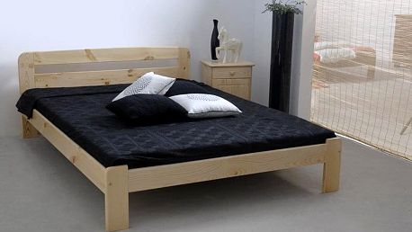 Dřevěná postel Sara 180x200 + rošt ZDARMA borovice
