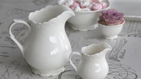 Chic Antique Džbán Provence, bílá barva, keramika