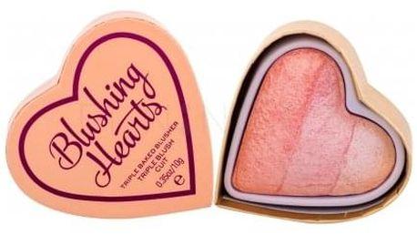 Makeup Revolution London I Heart Makeup Blushing Hearts 10 g zapečená tvářenka pro ženy Peachy Pink Kisses