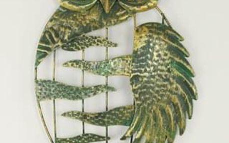Nástěnná kovová dekorace - sova