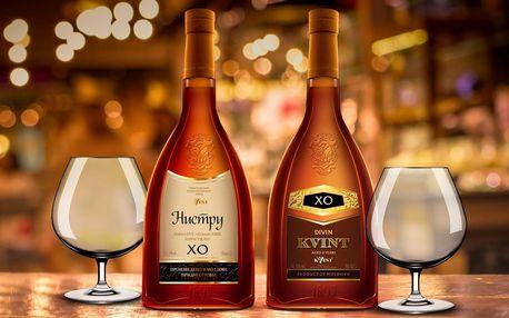 Brandy pro muže i ženy a sklenky Bohemia Crystal