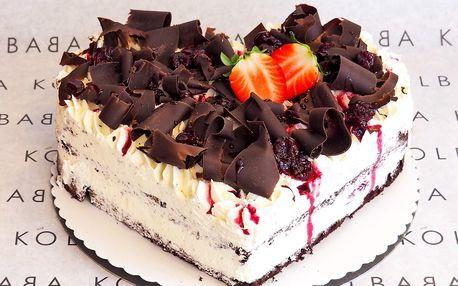 Srdce z lásky: čoko-višňový Schwarzwaldský dort
