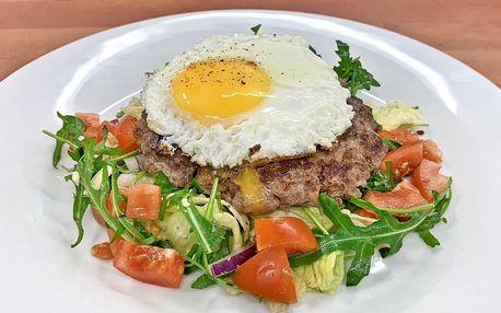 Hovězí naked burger Fitnessák se zeleninou