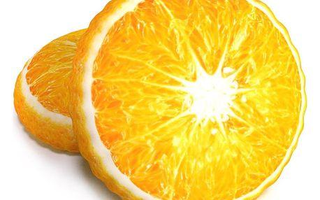 TipTrade Tvarovaný 3D polštářek Pomeranč, 34 cm