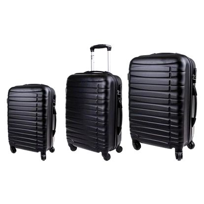Sada 3 pevných skořepinových kufrů všech velikostí