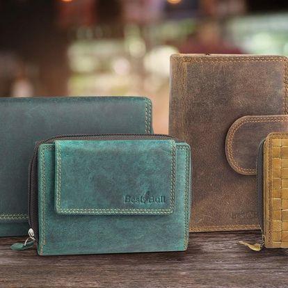 Dámské elegantní kožené peněženky
