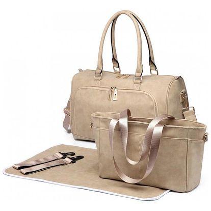 SET: Mateřská béžová taška Blake 6638