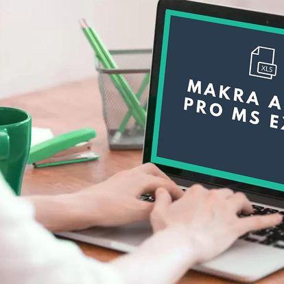 Online kurz Makra a VBA pro Excel s certifikátem