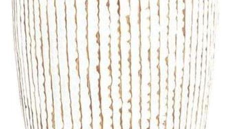 Autonic Polyresinová váza Stripe, béžová