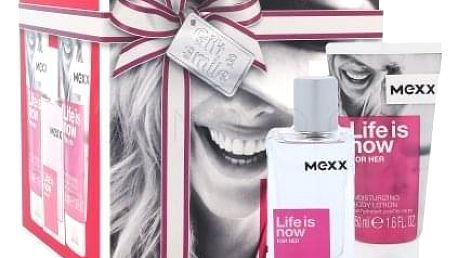 Mexx Life Is Now For Her dárková kazeta pro ženy toaletní voda 30 ml + tělové mléko 2x50 ml