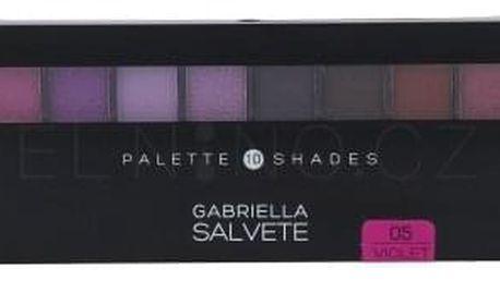 Gabriella Salvete Palette 10 Shades 12 g paletka očních stínů pro ženy 05 Violet