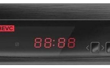 ALMA 2800 s DVB-T2 s HEVC (H.265) černý