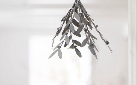 IB LAURSEN Dekorativní zinkové jmelí Mistletoe, šedá barva, zinek