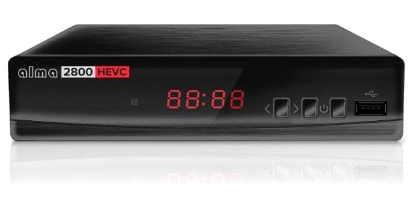 Set-top box ALMA 2800 s DVB-T2 s HEVC (H.265) černý2
