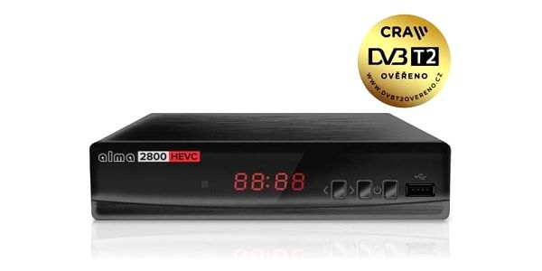 Set-top box ALMA 2800 s DVB-T2 s HEVC (H.265) černý3