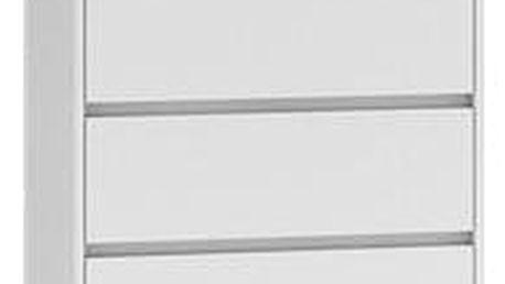 Komoda 6 šuplíků Bílá