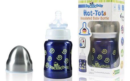 PACIFIC BABY Hot-Tot Termoska 125 ml modrá-spirálky