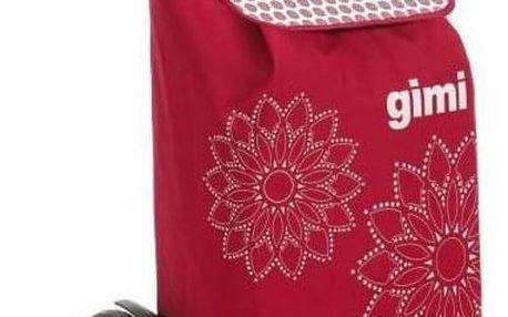Gimi Nákupní taška na kolečkách Tris Floral červená, 56 l
