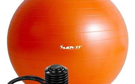 MOVIT 54101 Gymnastický míč s pumpou - 85 cm - oranžový