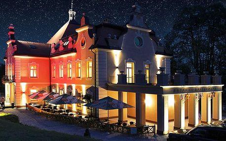 Pobyt na zámku Berchtold s večeří, vínem i masáží