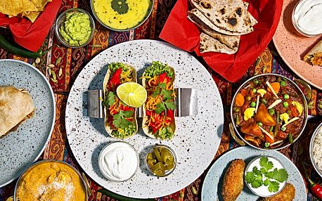Otevřený voucher do indicko-mexické restaurace