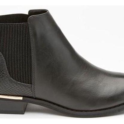 Dámské černé kotníkové boty Parker 688