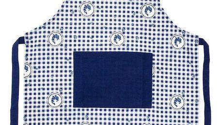Trade Concept Zástěra Country kostka modrá
