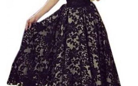 Luxusní plesové šaty s krajkou - 2 barvy
