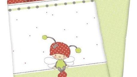 Herding Dětské bavlněné povlečení do postýlky Lara Ladybug, 135 x 100 cm, 40 x 60 cm