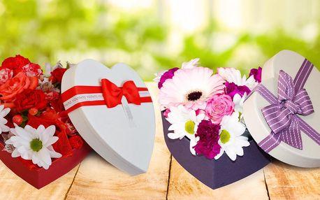 Flower box: krabice s čerstvými květinami