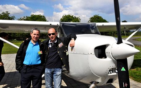 Komentovaná prohlídka letadel letecké školy v Brně
