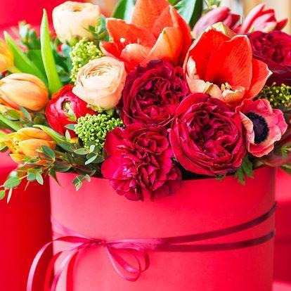 Box plný květin: neobvyklý dárek k Valentýnu