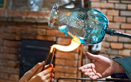 Voucher na jídlo a foukání skla pro 1, 2 i rodinu