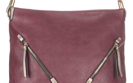 Bella Belly Dámská kabelka zlaté zipy