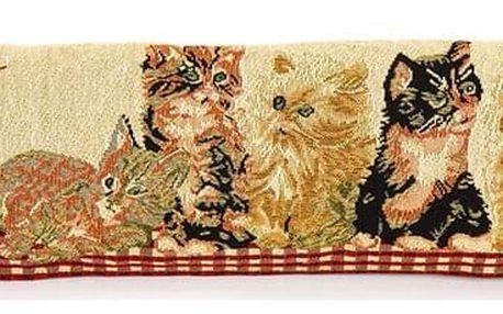 BO-MA Trading Ozdobný těsnící polštář do oken Kočičky