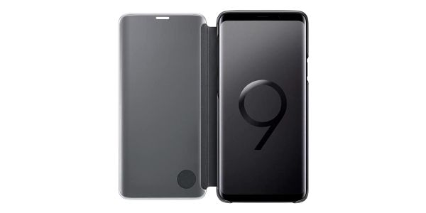 Pouzdro na mobil flipové Samsung Clear View pro Galaxy S9+ černé (EF-ZG965CBEGWW)2