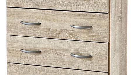 Prádelník 4 zásuvky dub