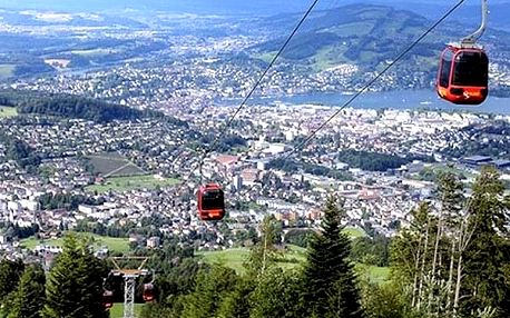 3denní zájezd do Švýcarska pro jednoho, lanovkou na vrchol Pilatus, jízda zubačkou, spousta jezer.