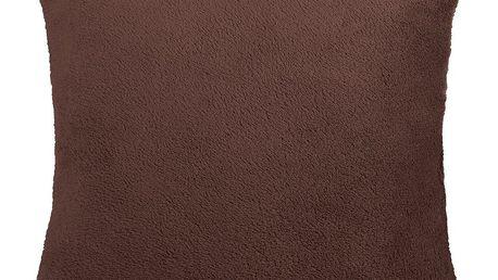 Bellatex polštářek Korall micro, tmavě hnědá, 38 x 38 cm