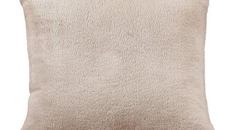 Bellatex polštářek Korall micro, béžová, 38 x 38 cm