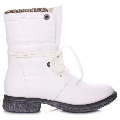 Ctogo GOGO Bílé kotníkové boty 2077WH Velikost: 36 (23 cm)