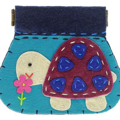 Fashion Icon Peněženka Velká želva flísová na magnet