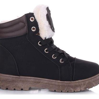 Cabin Černé dámské zimní boty RA1011B Velikost: 36 (23,5 cm)